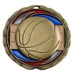 Custom Antique Basketball Color Epoxy Medallion (2-1/2