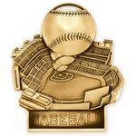 Custom Antique Gold Baseball Standup Medallion (3-1/2