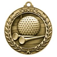 2 3/4'' Golf Wreath Award Medallion