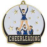 Custom Bright Gold Cheerleader High Tech Medallion (2