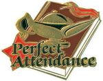 Gold Perfect Attendance Lapel Pin (1-1/4