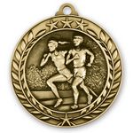 Custom 1 3/4'' Cross Country Wreath Award Medallion