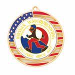 Custom Vibraprint Matte American Flag Insert Medallion (2-3/4