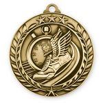 Custom 1 3/4'' Track Wreath Award Medallion