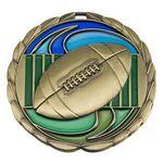 Custom Antique Football Color Epoxy Medallion (2-1/2
