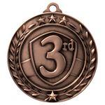 Custom Antique 3rd Place Wreath Award Medallion (2-3/4