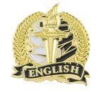 Custom Bright Gold Academic English Lapel Pin (1-1/8