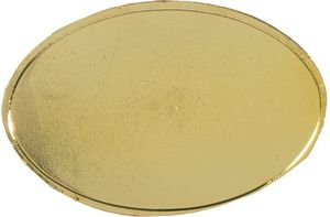 Polished Oval Lapel Pin w/ Magnet Back (1-1/4