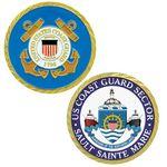 Custom Texture Tone Coast Guard Double Sided Coin (1-3/4