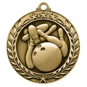 2 3/4 Bowling Wreath Award Medallion