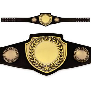 Custom Antique Shield Championship Belt in Black