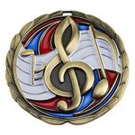 Custom Antique Music Color Epoxy Medallion (2-1/2