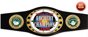 Express Vibraprint Bright Gold Oval Champion Award Belt