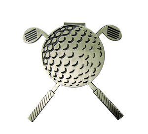 Cross Club Golf Hat Clip w/ Ball Marker