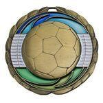 Custom Antique Soccer Color Epoxy Medallion (2-1/2