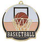 Custom Bright Gold Basketball High Tech Medallion (2