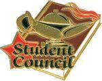Custom Gold Student Council Lapel Pin (1-1/4