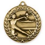 Custom Antique Female Gymnastics Wreath Award Medallion (2-3/4