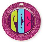 Custom Vibraprint Bright Pink GEM Insert Medallion (2-3/4