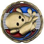 Custom Antique Bowling Color Epoxy Medallion (2-1/2