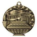 Custom A-B Honor Roll Academic Performance Medallion