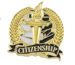 Custom Bright Gold Academic Citizenship Lapel Pin (1-1/8