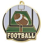 Custom Bright Gold Football High Tech Medallion (2