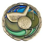Custom Antique Golf Color Epoxy Medallion (2-1/2