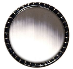 Round Glitter Lapel Pins w/ Military Clutch (1-7/16