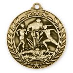 Custom 1 3/4'' Triathlon Wreath Award Medallion