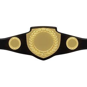 Custom Bright Shield Championship Belt in Black