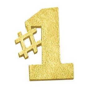#1 Chenille Lapel Pin