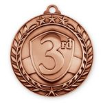 Custom 1 3/4'' 3rd Place Wreath Award Medallion