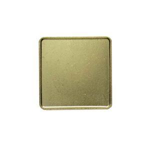 Square w/ Radius Corners Lapel Pins w/ Military Clutch (1-1/4