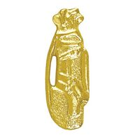 Golf Bag Bright Gold Chenille Lapel Pin