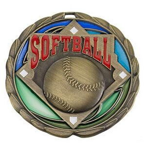 2 1/2 Softball Color Epoxy Medallion