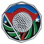 Golf Decagon Colored Medallion (2