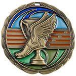 Custom Antique Track Color Epoxy Medallion (2-1/2