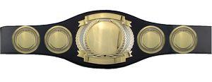 Custom Perpetual Championship Belt- Round Side Plates (No Belt)