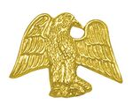 Eagle Bright Gold Chenille Lapel Pin
