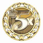 Custom Antique 5K Star Medal (2-1/2