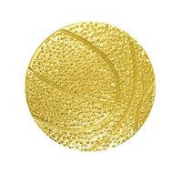 Basketball Bright Gold Chenille Lapel Pin