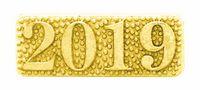 2019 Bright Gold Chenille Lapel Pin