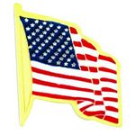 Custom American Flag Service Lapel Pin in Gold