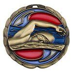 Custom Antique Swimming Color Epoxy Medallion (2-1/2