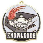 Custom Bright Gold Book & Lamp High Tech Medallion (2