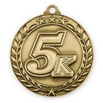 Custom Antique 5K Wreath Award Medallion (2-3/4