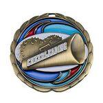 Custom Antique Cheerleader Color Epoxy Medallion (2-1/2