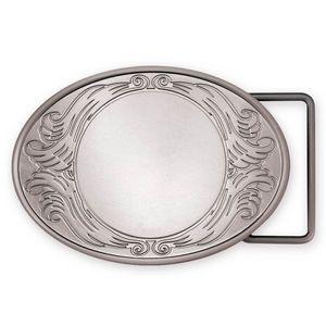 Custom Matte Oval Belt Buckle (3-3/4