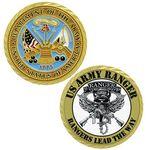 Custom Texture Tone Army Double Sided Coin (1-3/4